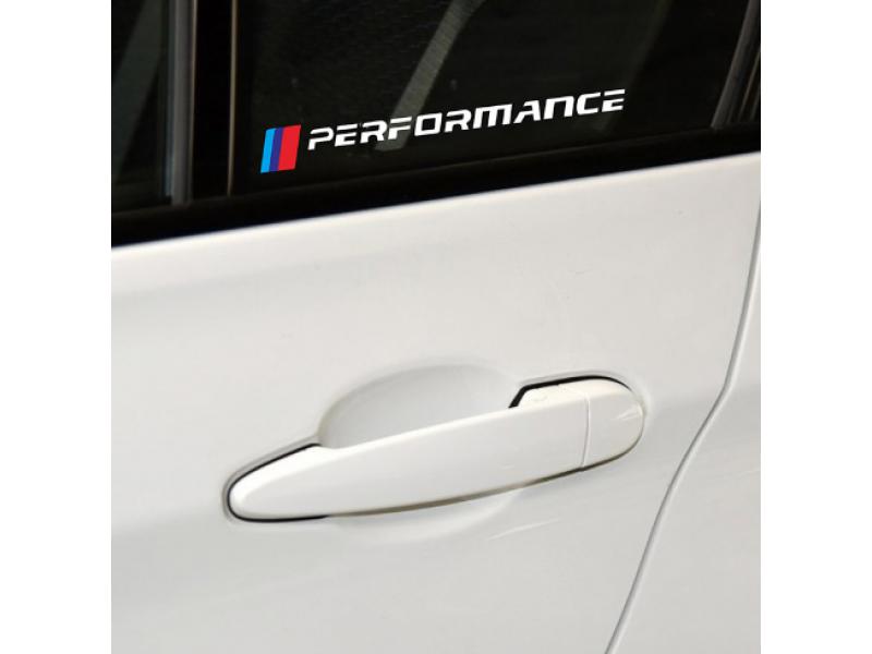M PERFORMANCE спортен стикер 2 броя, подходящ за bmw e90 e46 e39 e60 e30 f10 f10 f34 x3 x4 x5 e70 f15 x6 M3 M5