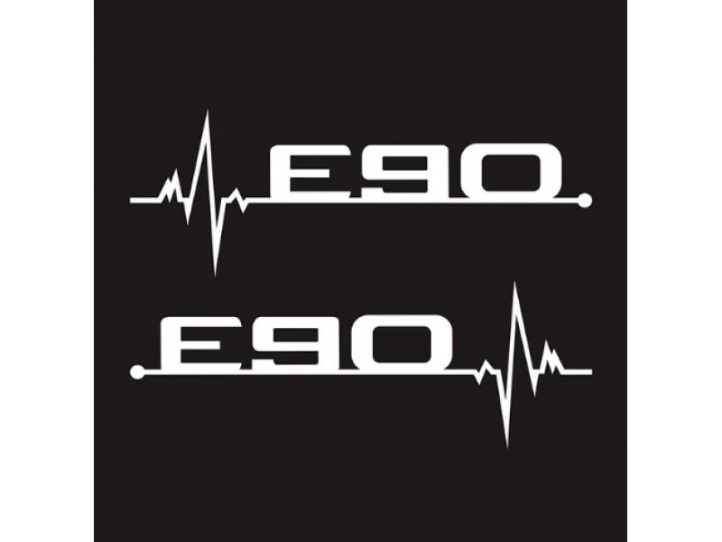 2 бр стикер за странични автомобилни прозорци с Е лого за E36 E36 E39 E46 E60 Е90